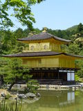 Kinkaku-ji, Temple of the Golden Pavillion, Kyoto, Japan. View of the Golden Temple in Kyoto Royalty Free Stock Image