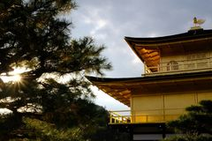 Kinkaku ji Temple in Japan. The exterior of Kinkaku ji Zen Buddhist Temple in Kyoto, Japan Stock Photos