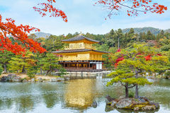 Kinkaku-ji Temple in Kyoto Stock Photography