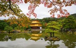 Kinkaku-ji Temple in Kyoto Japan. Kinkaku-ji Temple at autumn in Kyoto Japan. The Golden Pavilion Kinkaku is one of the most popular buildings in Japan Stock Image