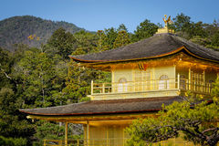 Kinkaku-ji Temple in Kyoto, Japan. The Golden Pavilion Kinkaku is a three-story building on the grounds of the Rokuon-ji temple complex Stock Photos