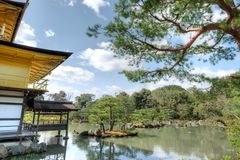 Kinkaku-ji Temple, Kyoto, Japan. Kinkaku-ji temple, the temple of the Golden pavillion, is one of Japan's most treasured temples. Its unique architecture, gold Stock Photo