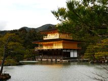 Kinkaku-ji Temple in Kyoto Japan. Kinkaku-ji Temple with pond, bonsai trees and garden in Kyoto Japan Royalty Free Stock Photo