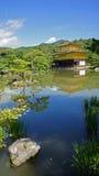 Kinkaku ji, złota świątynia w Kyoto Fotografia Royalty Free
