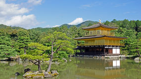 Kinkaku ji, złota świątynia w Kyoto Obrazy Stock
