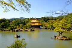 Kinkaku-ji Złoty pawilon, Zen Buddyjska świątynia w Kyoto, Obraz Royalty Free