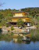 Kinkaku-ji (Złoty pawilon) w Kyoto, Japonia Obraz Royalty Free