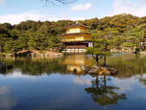 Kinkaku -kinkaku-ji in Kyoto Japan Royalty-vrije Stock Afbeelding