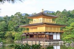 Kinkakuji寺庙在京都,日本 免版税库存图片