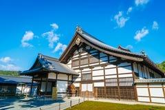 Kinkakuji寺庙金黄亭子在京都,日本 图库摄影
