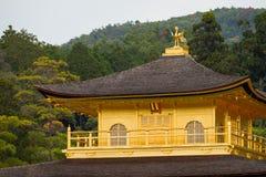 Kinkakuji寺庙金黄pavilian 库存图片