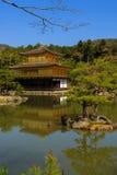 Kinkakuji寺庙,京都在日本 免版税库存照片