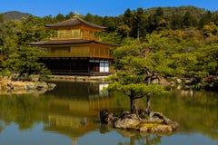 Kinkakuji寺庙,京都在日本 免版税库存图片