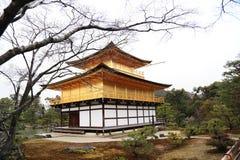 Kinkakuji寺庙,京都-日本 免版税库存照片