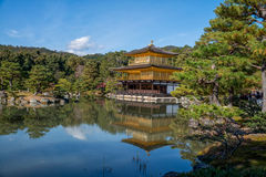 Kinkakuji寺庙,京都 库存照片