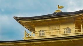 Kinkakuji寺庙(金黄亭子)在京都,日本 Phoerix 免版税库存图片