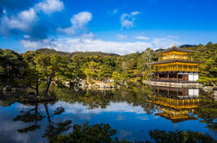 Kinkakuji寺庙 免版税库存照片
