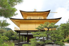 Kinkakuji,金黄亭子,京都 免版税库存图片