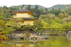 Kinkakuji świątynia w Kyoto, Japonia (Złoty pawilon) Obraz Royalty Free