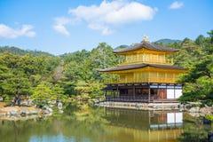 Kinkakuji świątynia Złoty pawilon w Kyoto Fotografia Royalty Free