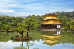 Kinkakuji świątynia Złoty pawilon w Kyoto, Japonia zdjęcie stock