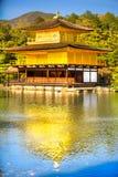 Kinkakuji (χρυσό περίπτερο), Κιότο, Ιαπωνία Στοκ Εικόνα