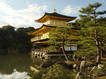 Kinkakuji. Picturesque view of Kinkakuji - The Golden Pavilion in Kyoto, Japan among greenery and plants royalty free stock photography