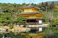 Kinkakuji寺庙,日本 免版税库存照片