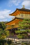 日本kinkakuji京都寺庙 免版税库存图片