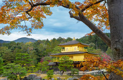 Kinkakuji in autumn season Stock Photos