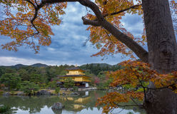 Kinkakuji in autumn season Stock Images
