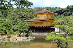 Kinkakuji - den guld- Pavillionen, Kyoto, Japan Arkivfoto