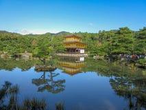 Kinkakuji e reflexão fotografia de stock