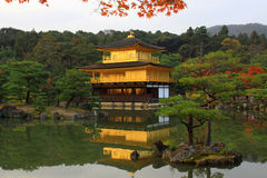 Kinkakuji  - the famous Golden Pavilion at Kyoto Stock Photo