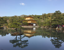 Kinkakuji with the garden Stock Images
