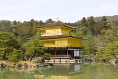 Kinkakuji (Gold Pavilion), Kyoto, Japan. Stock Image