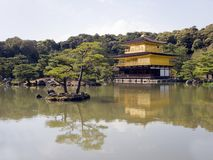 Kinkakuji gold temple in Kyoto Stock Photography