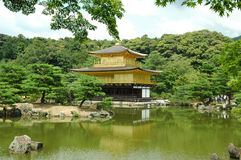 Kinkakuji (Golden Pavilion). Kikakuji (Golden Pavilion) in Kyoto stock photo