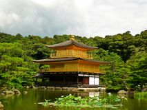 Kinkakuji (The Golden Pavilion). Kinkaku-ji, also known as Temple of the Golden Pavilion Temple in Kyoto Japan, which is a Zen Buddism Temple represents the Stock Images