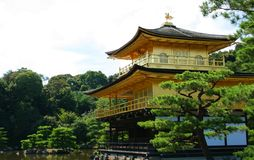Kinkakuji (Golden Pavilion) in Japan Royalty Free Stock Photography