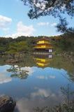 Kinkakuji, Golden Pavilion; Kyoto, Japan. Temple of the Golden Pavilion, also known as Kinkaku-ji or Rokuon-ji, reflected in a lake. Northern Kyoto, Japan Royalty Free Stock Photos