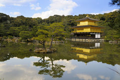 Kinkakuji, Golden Pavilion; Kyoto, Japan. Temple of the Golden Pavilion, also known as Kinkaku-ji or Rokuon-ji, reflected in a lake. Northern Kyoto, Japan Royalty Free Stock Photo
