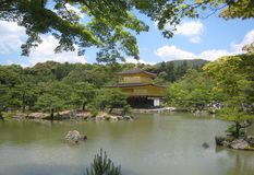 Kinkakuji Golden pavilion in Kyoto, Rokuon-ji Stock Images
