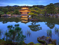 Kinkakuji Golden Pavilion at night, Kyoto, Japan Stock Photos