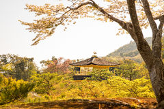 Kinkakuji (Golden Pavilion) is Old Japanese golden castle, Kinka Royalty Free Stock Photography