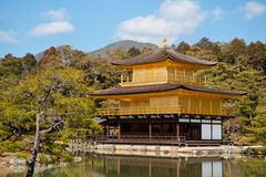 Kinkakuji Golden Pavilion Temple in Kyoto. Stock Photography