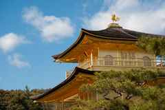 Kinkakuji Golden Pavilion Temple in Kyoto. Stock Images