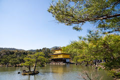 Kinkakuji (Golden Pavilion) is a Zen temple in northern Kyoto Stock Images
