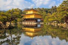 Kinkakuji (Golden Pavilion) is a Zen temple. Stock Images