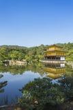 Kinkakuji the golden pavillion. Kyoto. Japan. With detail Stock Image